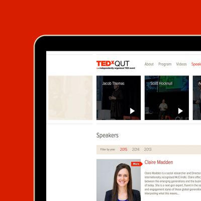 TEDxQUT website